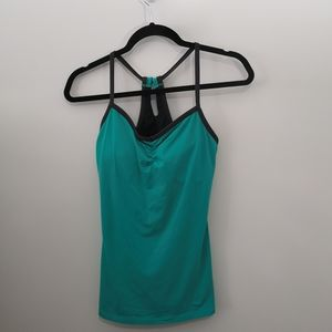 Lucy Green & Gray Workout Yoga Racerback Tank Top